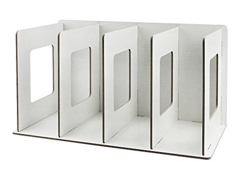 Stehsammler Abnehmbar Stehordner Zeitschriftensammler aus Holz DIY Archivsammler Schreibtischorganizer mit 4 Fächer Katalogsammler für Buch Magazin CD Halter (Holz-magazin)