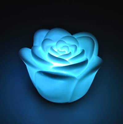 SODIAL(R) 7 Color Romantic Changing LED Floating Rose Flower Candle Night Light from TOOGOO(R)