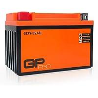 GP-Pro GTX9-BS Gel Batterie 12V 9Ah (Vergleichbar YTX9-BS) Wartungsfrei Versiegelt Vorgeladen Motorrad Akkumulator