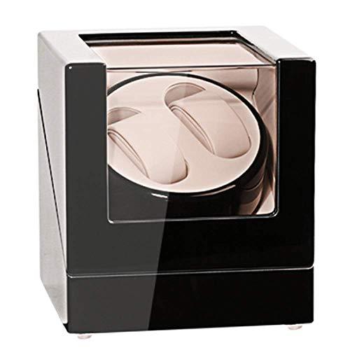 GUOOK GUOOK Automatik Uhrenbeweger Doppeluhren Box für Automatikuhren Verschleißschutz Uhrenständer Automatik Doppeluhrenbox Leiser Betrieb