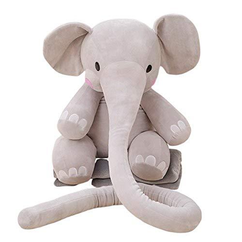 Langen Nase (YEARYOWN Lange Nase Elefant Kissen weichen Plüsch Kuscheltier Plüschtier,55CM)