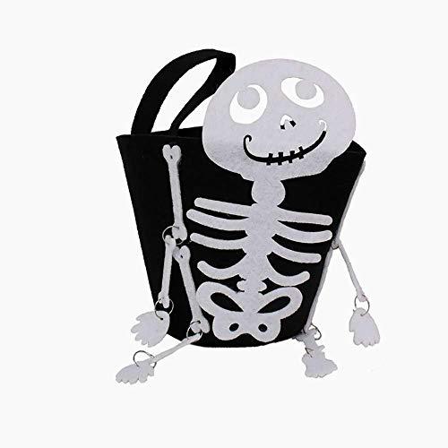 Beito Halloween Trick or Treat Taschen mit Schädel-Form oder traditionelle Halloween Candy Bag Ideal für Kinder 1PCS