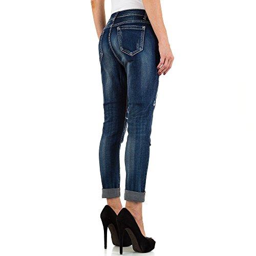 Used Look Low Skinny Jeans Für Damen bei Ital-Design Blau KL-J-C9139