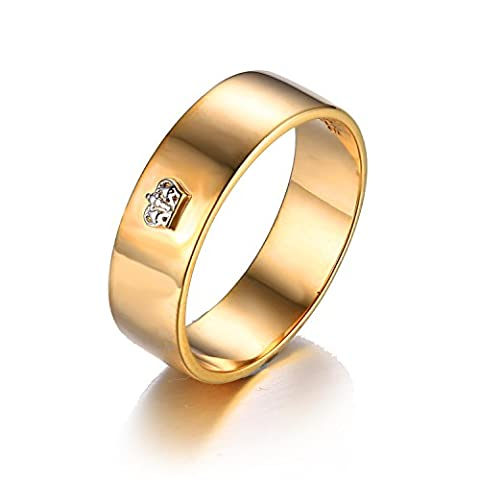 Jewelrypalace Galvanik Rose vergoldet Königkrone Partnerschaft Geschenk Ring Silberring 925 Sterling Silber (Elegante Rosen-seife)