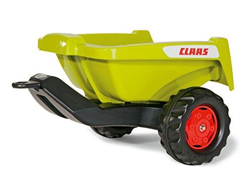 Rolly Toys 128853 rollyKipper II Claas Anhänger | Einachsanhänger mit Kippfunktion | für Kinder ab 2,5 Jahren | Farbe grün/schwarz | TÜV/GS geprüft