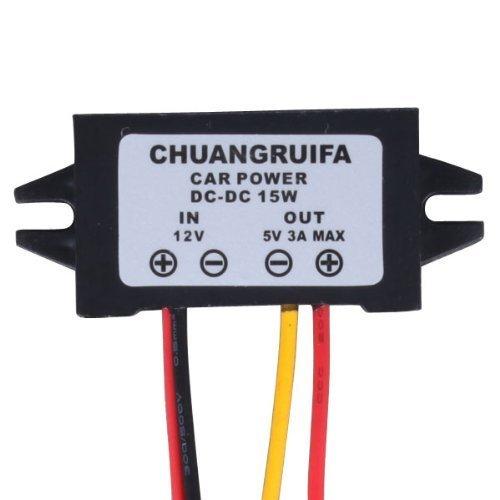 riorand (TM) Auto LED Display Netzteil 12V auf 5V 3A DC/DC BUCK Converter Modul - Dashcam-netzteil