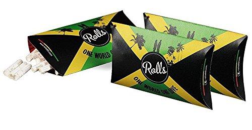Rolls Smart Filter Tips - 150 Stück Jamaica (7mm) 3x VIP Pack I Rolls69 Vorteilspack I Eindrehfilter mit Kühlsystem - Spezial Filter für Rolling Papers keine Aktivkohle - fertig vorgerollter Filtertip -