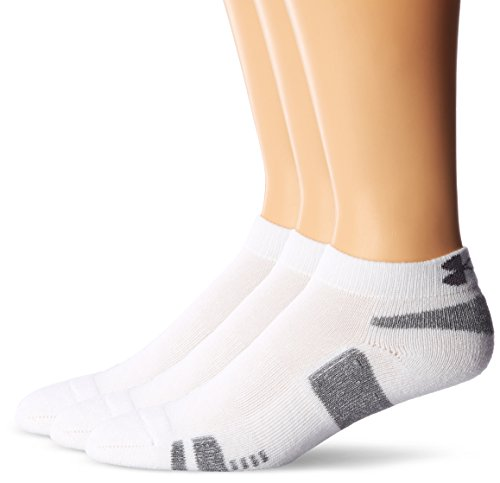 Under Armour Herren Socken HeatGear Low Cut 3er Pack, Weiß (White), 47-51 (XL)