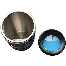 SODIAL(R) 24-105 mm Viajes Cafe Taza / taza / termo con lente de Calidad de acero inoxidable Interior