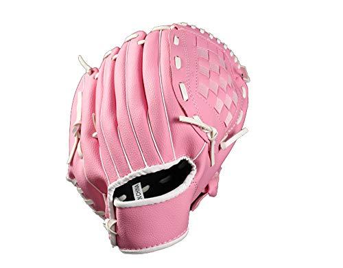 Newhaa Baseballhandschuh - Linkshänder Baseballhandschuh und Softball Feldhandschuh - Kunstleder Field Master Baseballhandschuh, Rose, 12.5inch