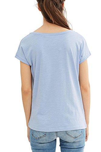 edc by Esprit 047cc1k002, T-Shirt Femme Bleu (Light Blue Lavender)