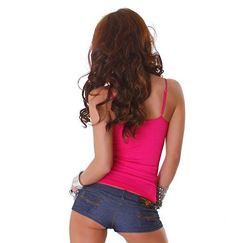 POWER FLOWER Sexy da donna Strappy top gilet casual da donna con pizzo, taglia unica EU 34–UK 6, 8, 10, 12, 36, 38, 40 Pink
