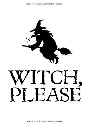 Notizbuch: Halloween Hexe Besen Wortspiel Kostüm Geschenke 120 Seiten, A4, Blanko / Skizzen, (Wortspiel Kostüm Halloween)