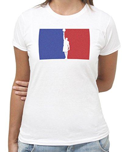 T-Shirt BASKET LOGO - by New Indastria - Donna-XL-Bianca