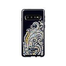 Tech21 Protective Samsung Galaxy S10e Case Ultra-Thin Back Cover with BulletShield - Pure Print Liberty Felix Raisen - Navy/Blue