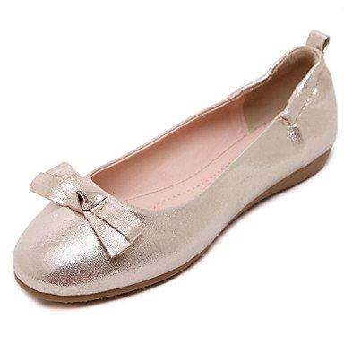 Confortevole ed elegante piatto scarpe donna Appartamenti Primavera / Estate / Autunno Round Toe / punta chiusa / Appartamenti Casual tacco piatto Bowknot passeggiate golden