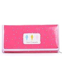 Damara Girls' Cute Ice Cream Dot Bifold Wallet Coins Pouch Bag,Watermelon