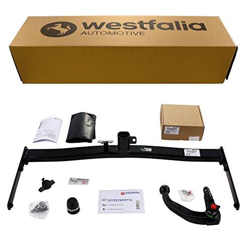 Westfalia abnehmbare Anhängerkupplung - AHK für Golf 5 Limousine, Golf 6 Limousine, Golf Plus & Crossgolf - Im Set mit 13-poligem fahrzeugspezifischem Elektrosatz
