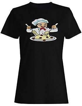 Novedad divertida del appetit del jefe del chef camiseta de las mujeres rr19f