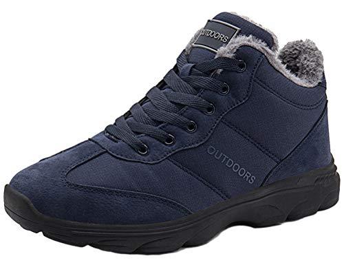 SINOES Zapatillas de Camping y Acampada para Hombres Zapatos de Senderismo Montaña Calzado de Trekking Impermeable y Ligero