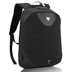 Schwarz Laptop Rucksack zum Herren-Arctic Hunter Diebstahlschutz Business Rucksack mit USB Zum Notebook, Nomad