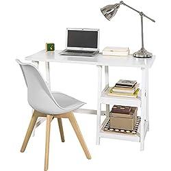 Mesa de Escritorio y Silla de Escritorio, color blanco