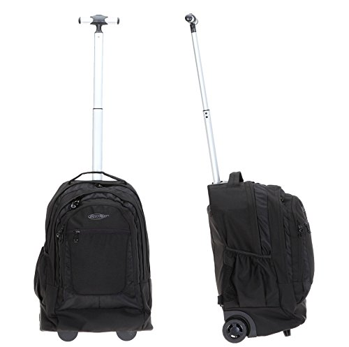 BESTWAY Trolley DRIVE PACKER Rucksacktrolley Trolly Laptoptrolley Schultrolley (Schwarz) Schwarz