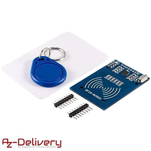 AZDelivery ⭐⭐⭐⭐⭐ RFID Kit RC522 13,56MHz mit Reader, Chip und Card für Arduino und Raspberry Pi mit gratis eBook!