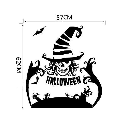 Murale zozoso halloween, clown, streghe, cappelli, finestre, vetro, decorazioni da parete.