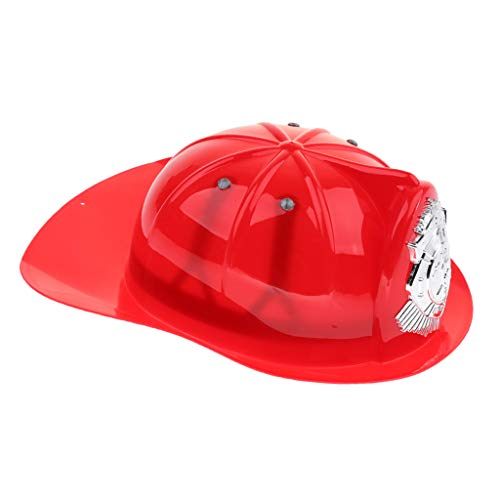 CUTICATE Fire Chief Schutzhelm, Kinder Kleinkind Feuerwehrmann Pretend Play Toy, Feuerwehrmann Dress Up Hat Toy - rot