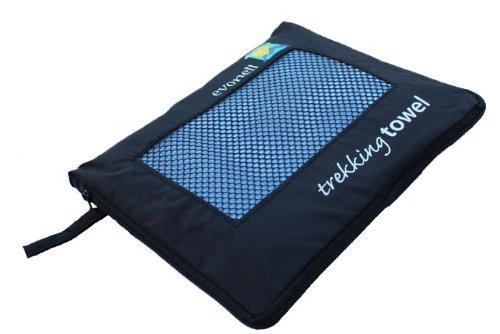 EVONELL 64x120cm Sports Towel Sporthandtuch Microfaser blau