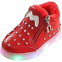e390b031f ALIKEEY Niños Niñas Bebé Zip Crystal Llevó Luz Luminosa Deporte Zapatillas  Deportivas Zapatillas Deporte Cuna Mes