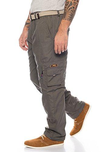 Fashion Herren Thermohose mit Dehnbund - mehrere Farben ID561, Größe:3XL;Farbe:Grau