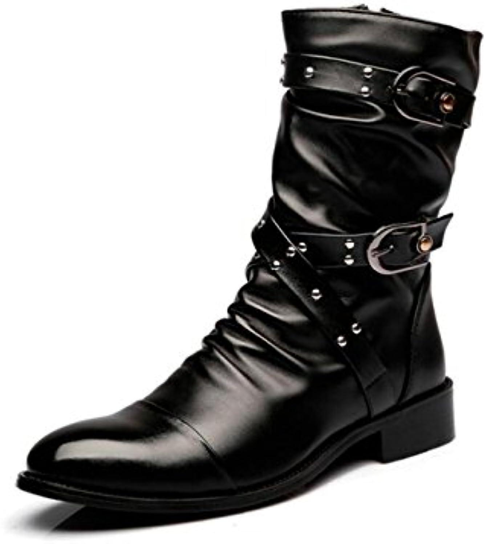 Gran Zapatos Para Hombres Remaches Más Cuero Tallado En Terciopelo