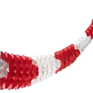 Susy Card 11137775 – Guirnalda (papel, cartón, con cuerda, plástico, 1 unidad, 10 m), color rojo y blanco