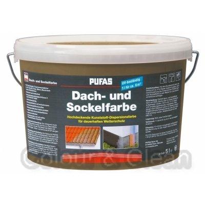 Pufas Dach- und Sockelfarbe 5 L Farbe: Terra 960 Dachfarbe Sockel-Anstrich
