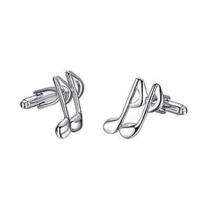 yoursfs Musik Manschettenknöpfe Silber Edelstahl das ideale Geschenk für alle Musiker oder Musikliebhaber
