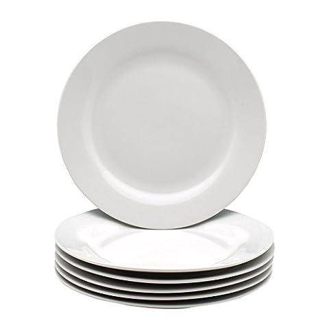White Wide Rimmed Dessert / Small Dinner Plate 190mm (7.5