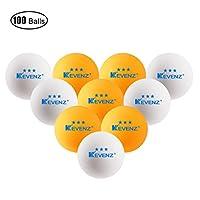 100 Stück Kevenz 3 Sterne Übung Tischtennisball Dauerhaft Ping Pong...