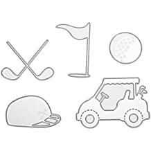 Demiawaking Schön Stanzschablonen Metall Schneiden Schablonen für DIY Scrapbooking Album, Golf Schneiden Schablonen Papier Karten Sammelalbum Dekor (17)