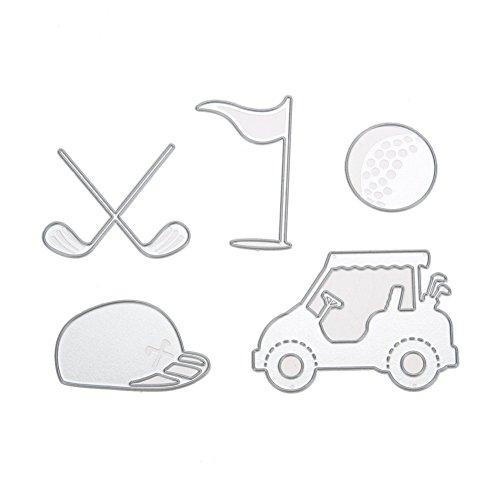 tanzschablonen Metall Schneiden Schablonen für DIY Scrapbooking Album, Golf Schneiden Schablonen Papier Karten Sammelalbum Dekor (17) ()
