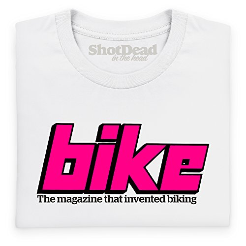 Official Bike Magazine Late 70s Logo Langarmshirt, Herren Wei