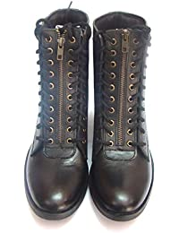 eb87e37cc7de9 ASM Black Soft Leather Light Weight Flying Boots Shoes for Pilots with TPR  Sole