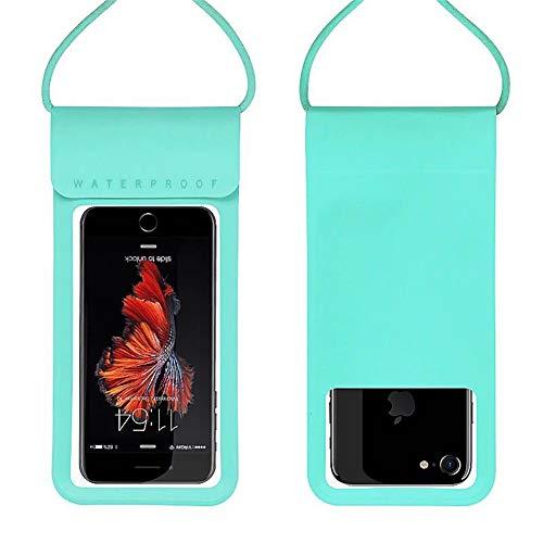 QINWURUI wasserdichte Handyhülle universal, Wasser-, Staub-, schmutz-, schneegeschützte Hülle, für Handys bis 6 Zoll (weiß&schwarz),Blue -