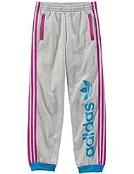 adidas Originals pantalón deportivo para niños niñas, color grey - graumelange, tamaño 15 años