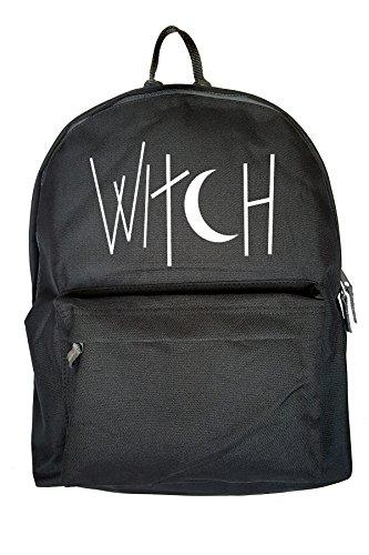 Witch Komisch Halloween Drucken Rucksack Gelegenheits Schwarz Tasche