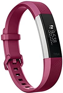 Fitbit Alta HR - Bracelet d'Activité - Mixte Adulte - Rose (Fuchsia) - Taille: S