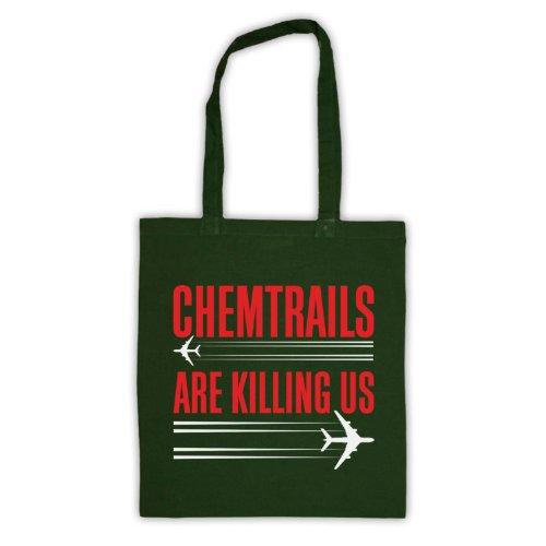Chemtrails sono Killing Us Protest Tote Bag Verde scuro