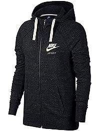 Details zu Nike Damen Sport Fitness Kapuzenjacke Sweatjacke NK DRY HOODIE FZ grau