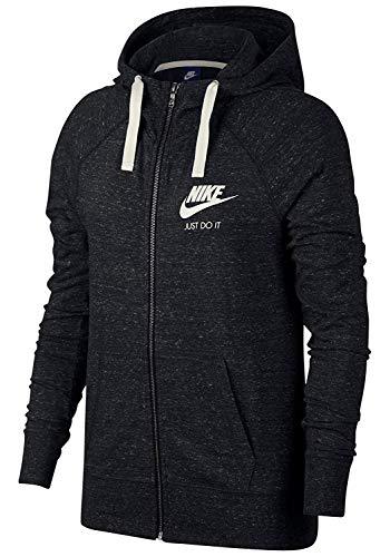Nike Damen Vintage Kapuzen-Sweatshirt, schwarz (Black/Sail 010)), XS